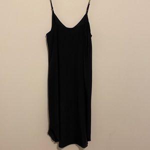 Aritzia wilfred black silk slip dress xs preloved